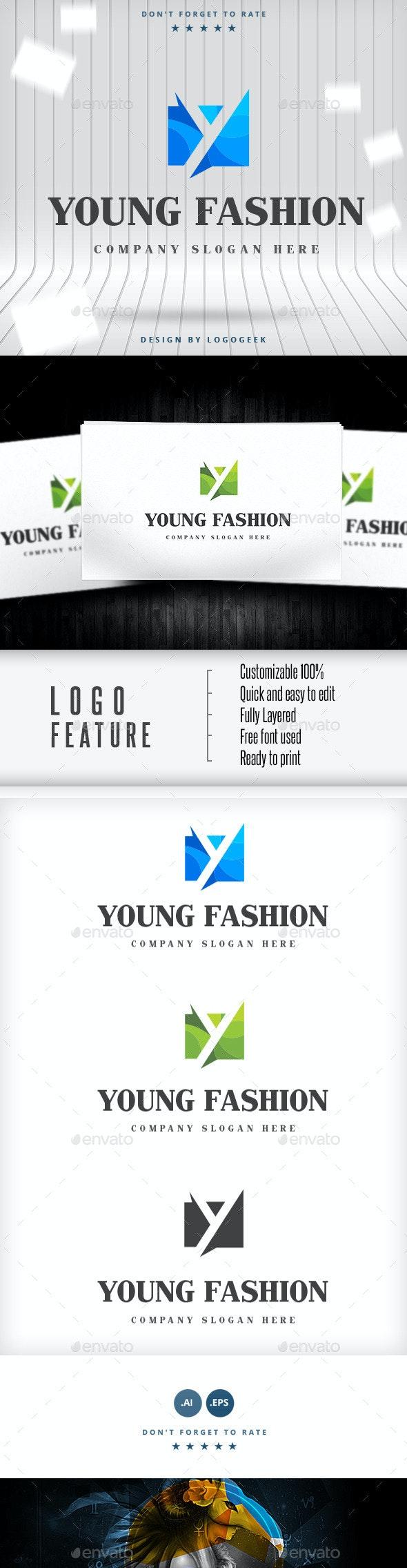 Young Fashion Logo - Crests Logo Templates