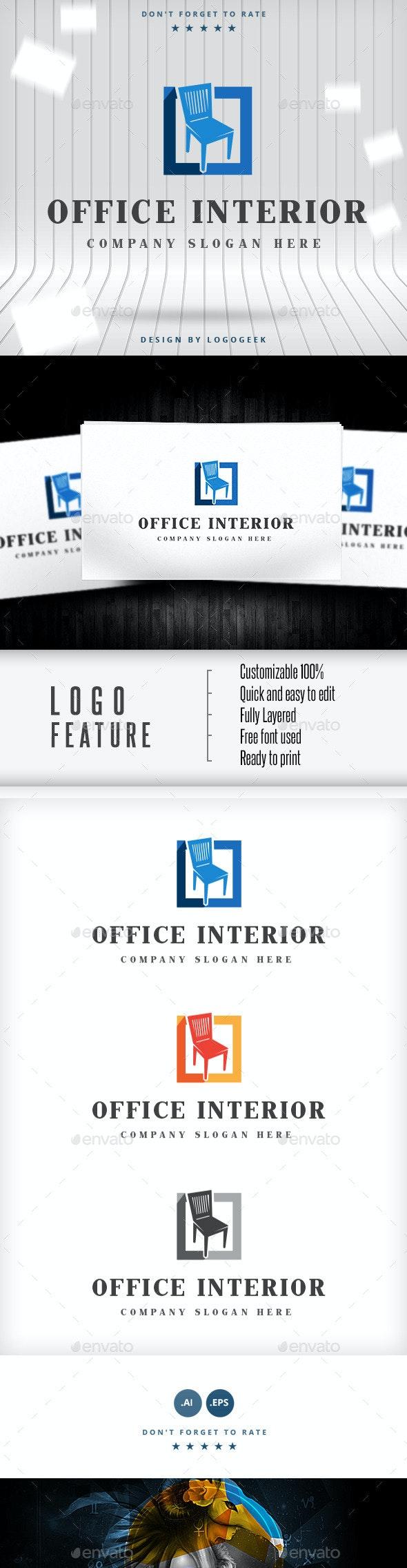 Office Interior Logo - Buildings Logo Templates