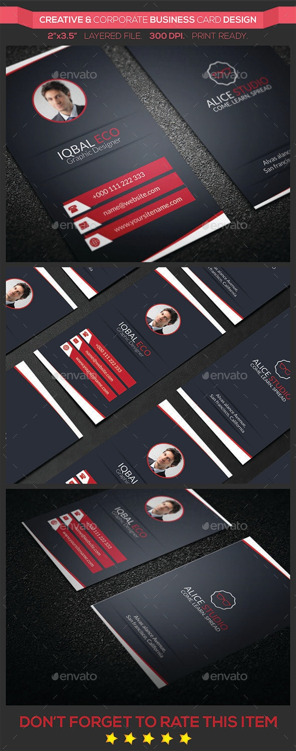 Creative & Corporate Business Card Design - Creative Business Cards