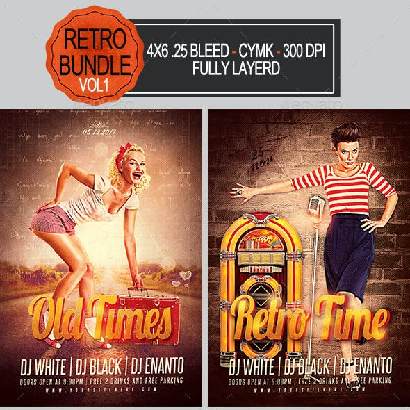 Retro Flyer Bundle Vol1