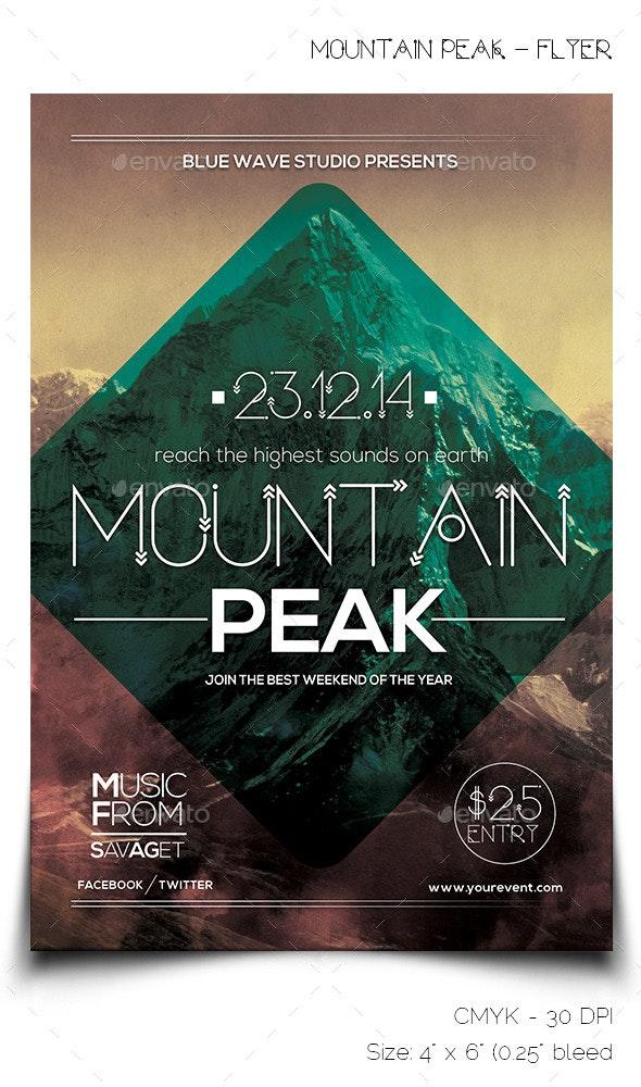 Mountain Peak - Flyer - Miscellaneous Events