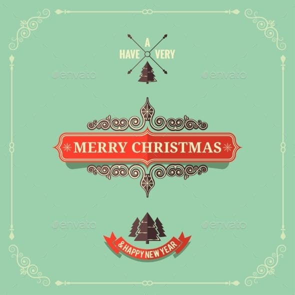 Christmas Vintage Card Background