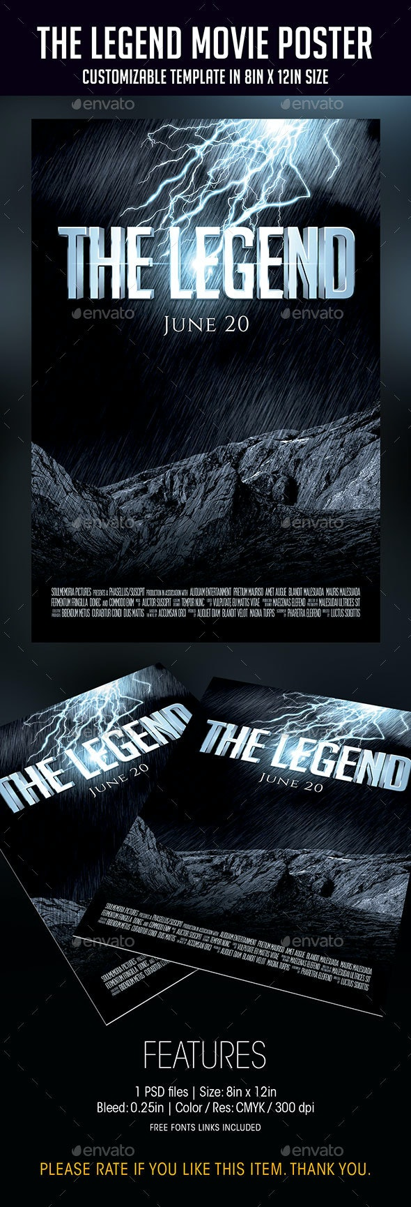 The Legend | Movie Poster - Flyers Print Templates