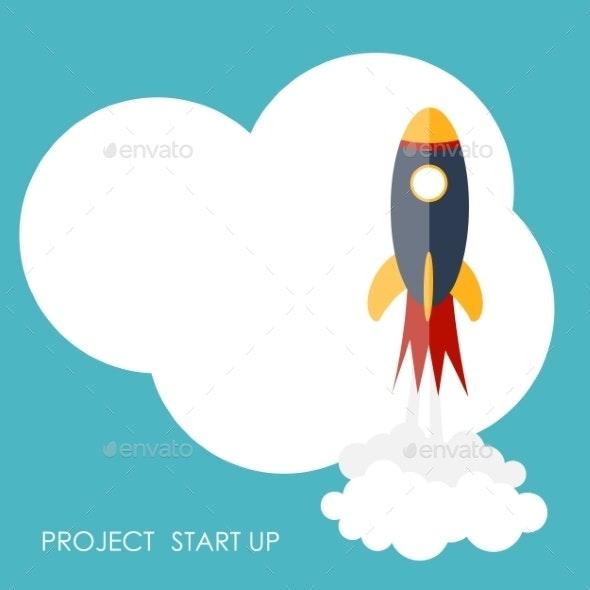 Quick Start Up Flat Concept Vector Illustration  - Web Technology