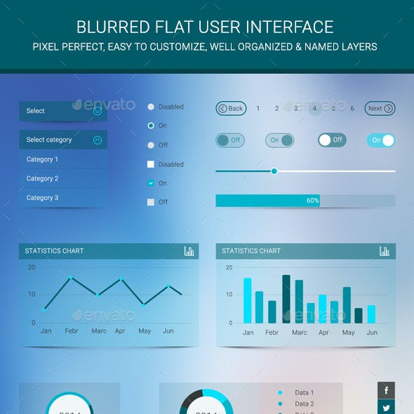Blurred Flat User Interface