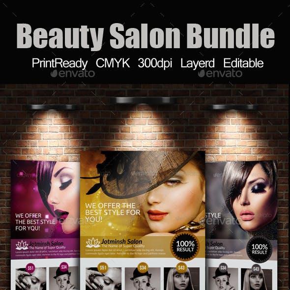 A4 Beauty Salon Flyer Bundle