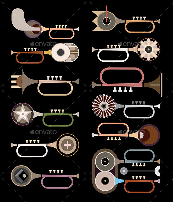 Trumpets - Objects Vectors