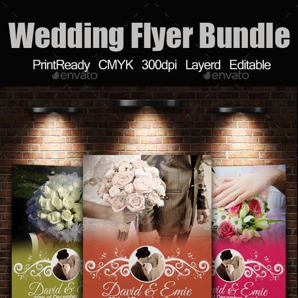 A4 Wedding Flyer Bundle
