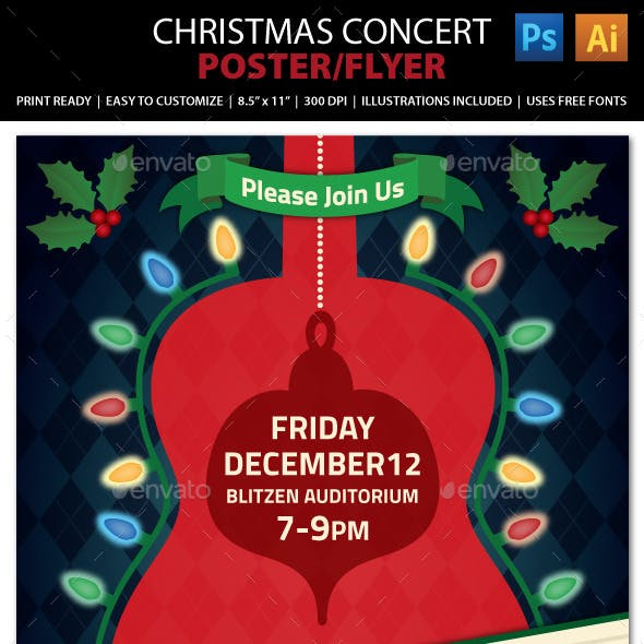 Christmas Concert / Music Event Flyer or Poster