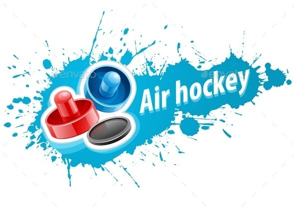 Mallets and Puck For Air Hockey Game - Man-made Objects Objects