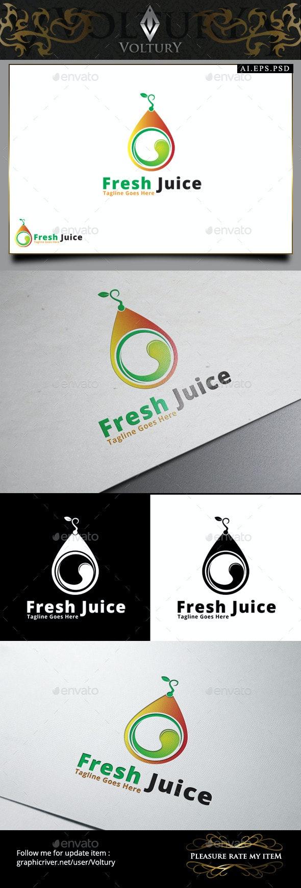 Fresh Juice Logo - Food Logo Templates