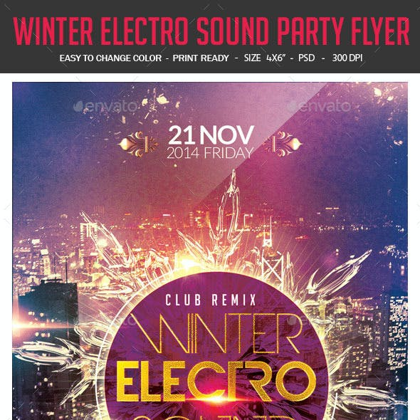 Winter Electro Sound Party Flyer