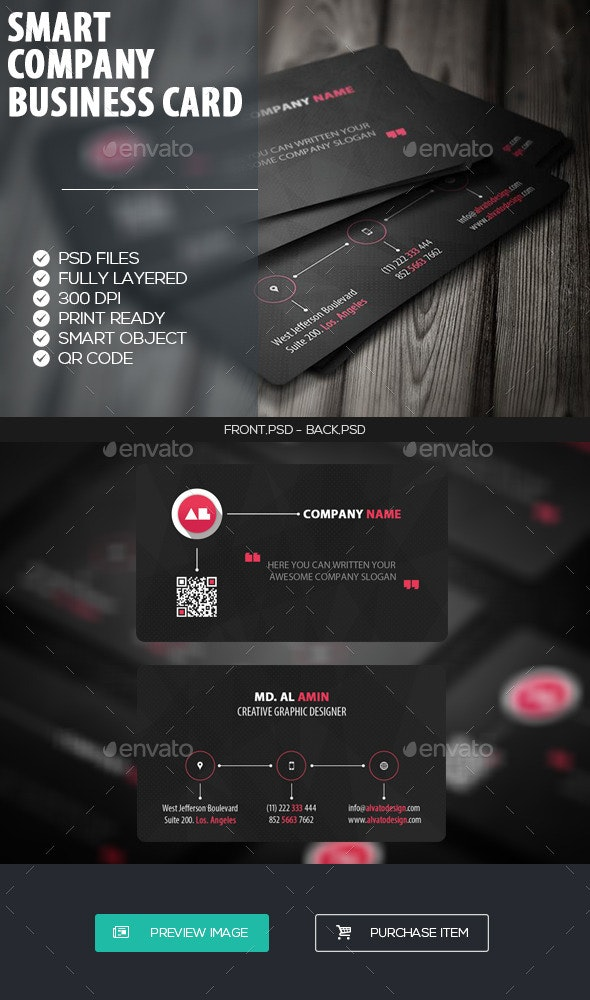 Smart Company Business Card - Corporate Business Cards