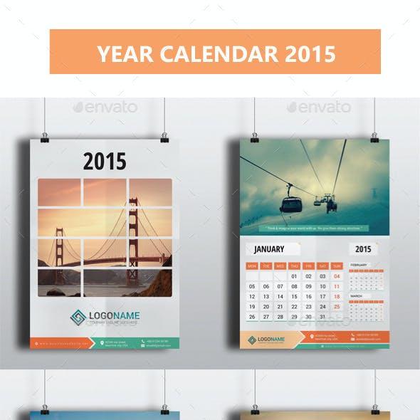 Year Calendar 2015
