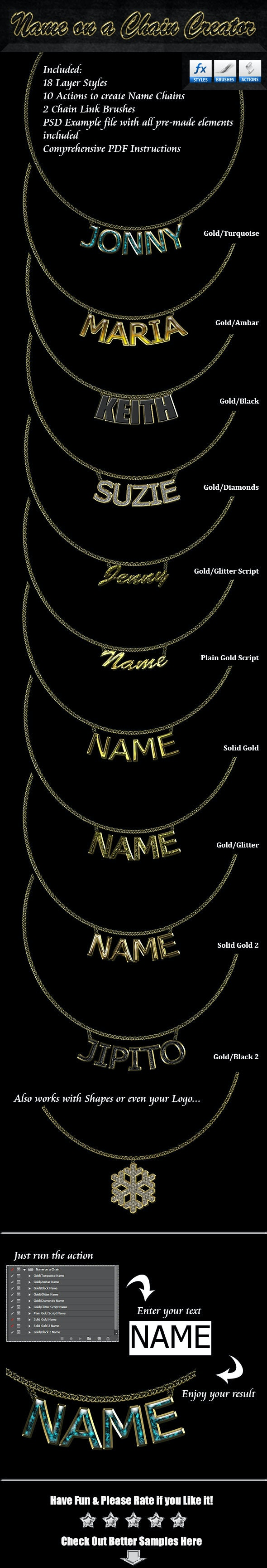 Name on a Chain Creator - Utilities Actions