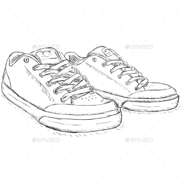 Sketch Skaters Shoes - Man-made Objects Objects