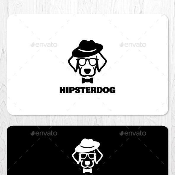 Hipster Dog Logo