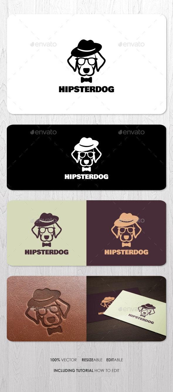 Hipster Dog Logo - Animals Logo Templates
