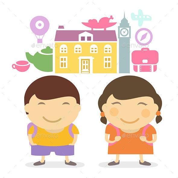 Schoolchildren - Travel Conceptual