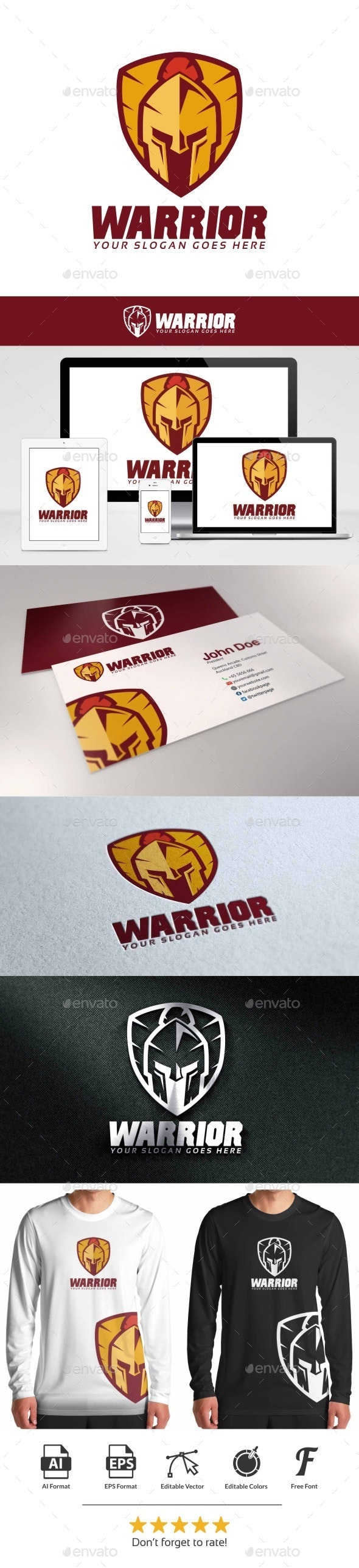 Warrior Shield Logo - Symbols Logo Templates