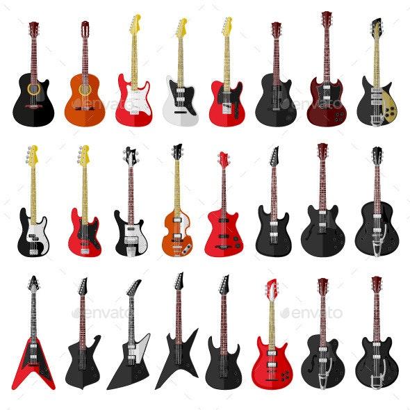 Guitars - Objects Vectors