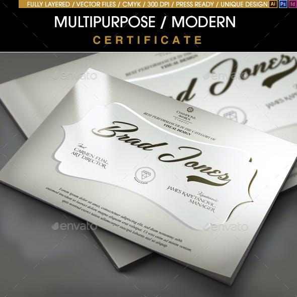 Multipurpose Modern Certificate v.4 (All Formats)