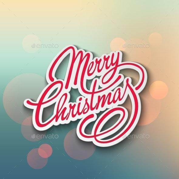 Merry Christmas Vector Lettering - Christmas Seasons/Holidays