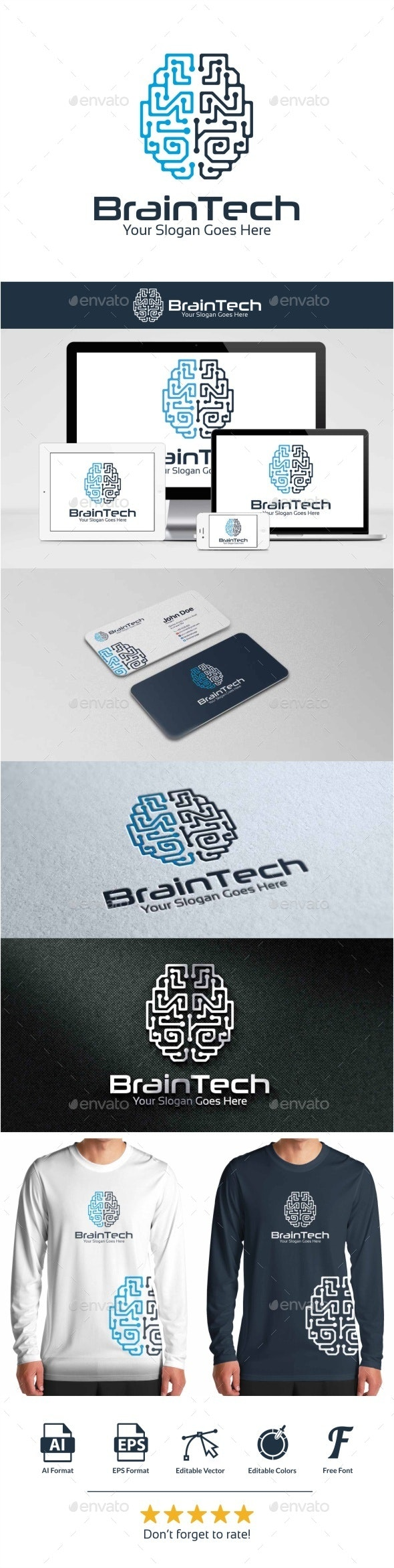 BrainTech Logo - Vector Abstract