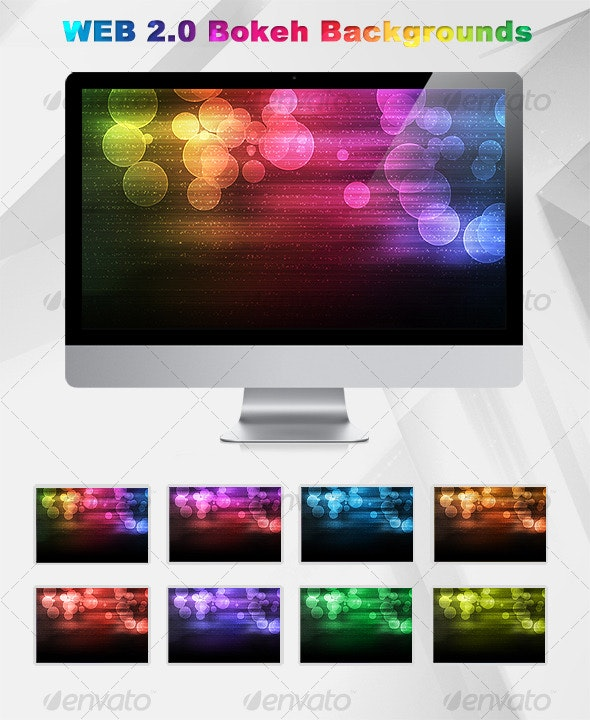 Web 2.0 Bokeh Background - Abstract Backgrounds