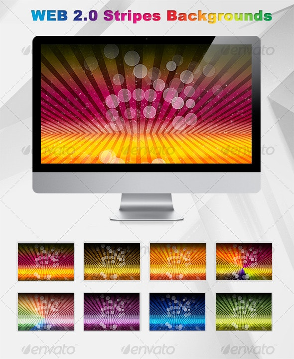 Web 2.0 Stripes Background - Abstract Backgrounds