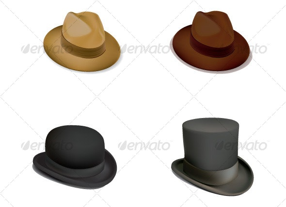 Set of hat - Man-made Objects Objects