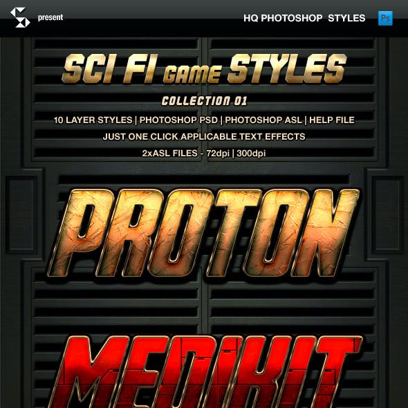 Sci-fi Game Styles - Collection 1