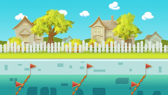 Nature Pool Game Background - Backgrounds Game Assets