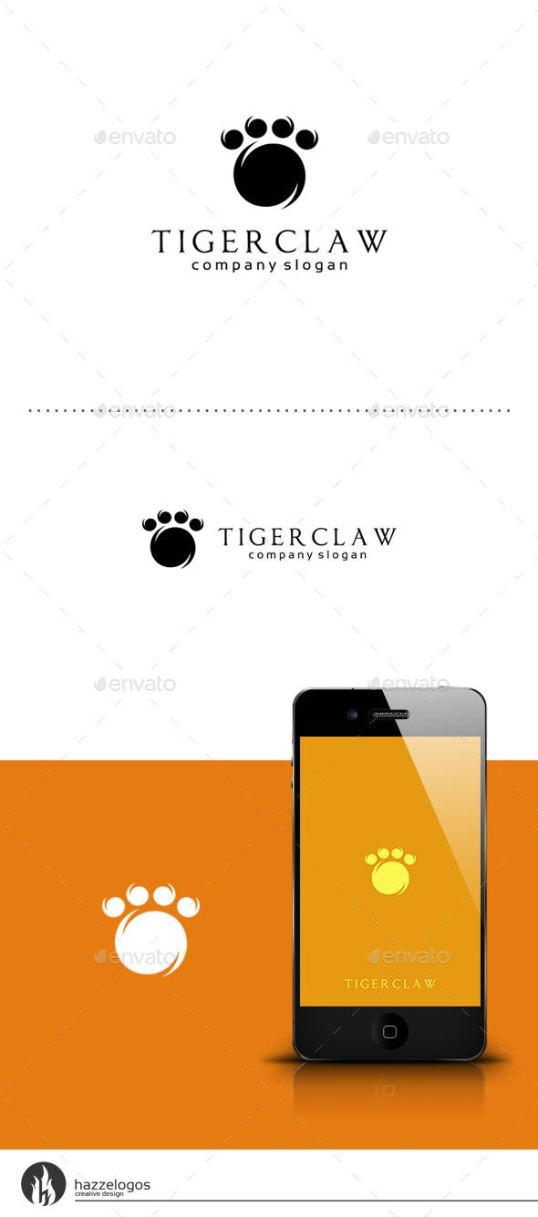Tiger Claw Logo - Animals Logo Templates