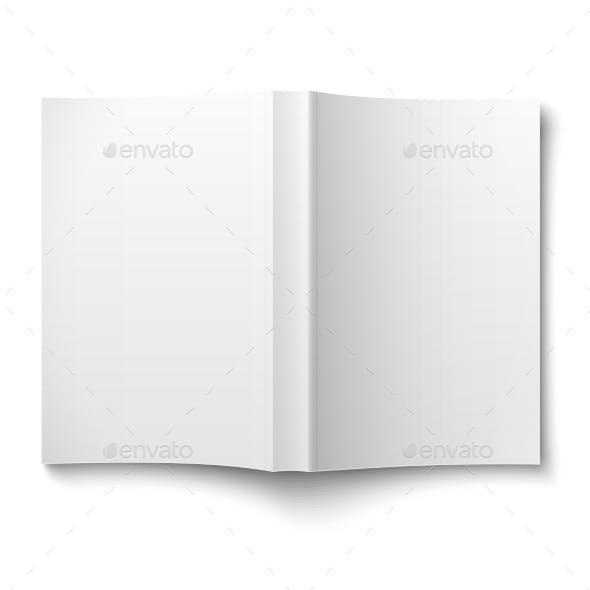 Blank Softcover Book Template Spread