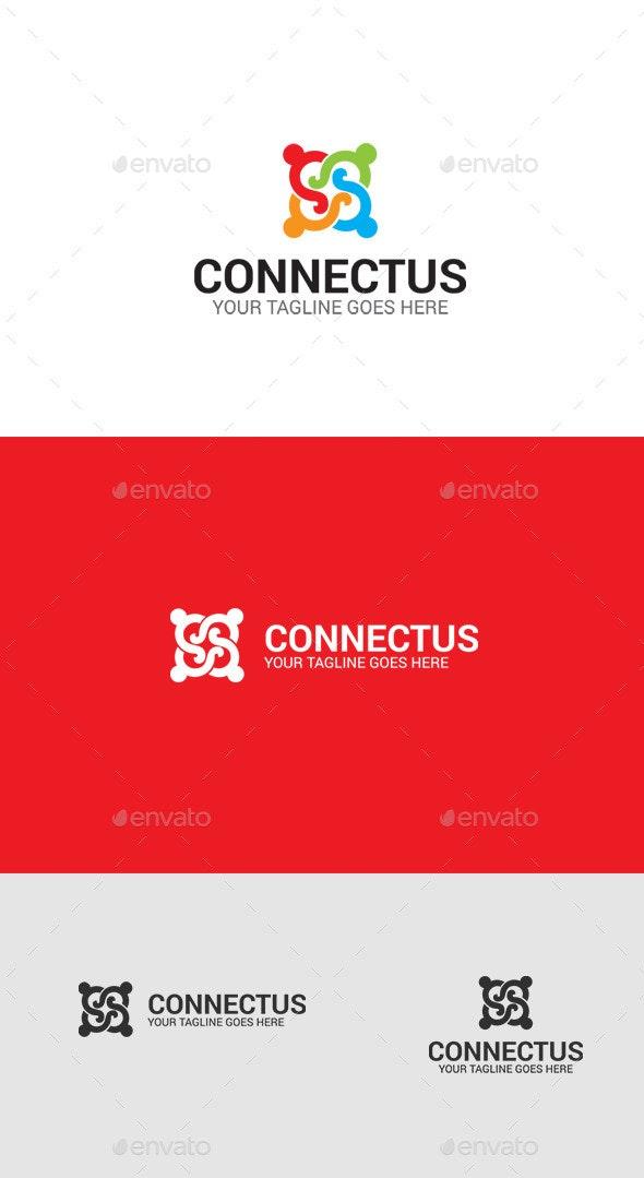 Social Connect Logo Template - Symbols Logo Templates