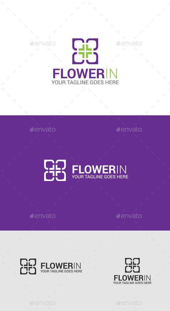 Purple Flower Logo - Symbols Logo Templates
