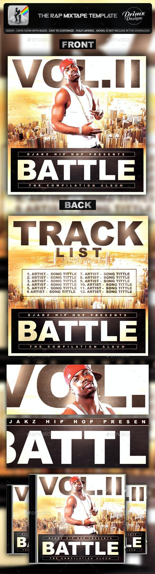 The Rap Mixtape Template - CD & DVD Artwork Print Templates