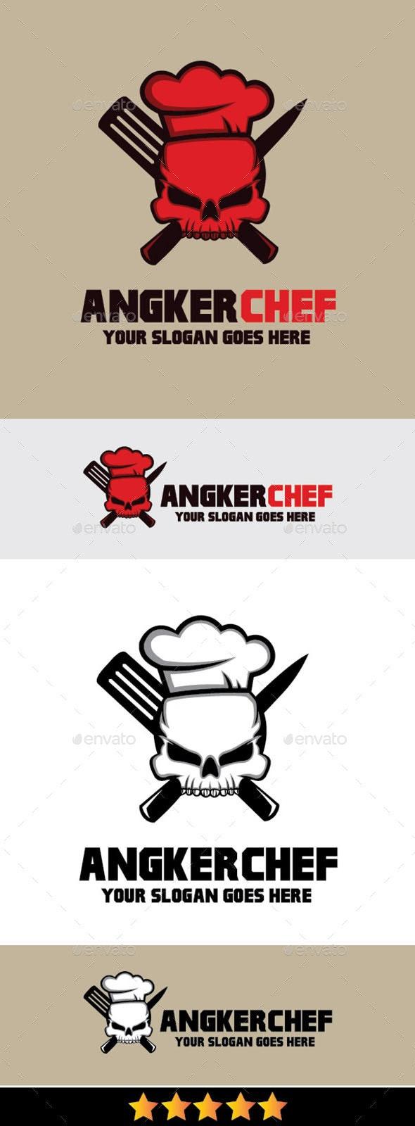 Angker Chef Logo - Humans Logo Templates