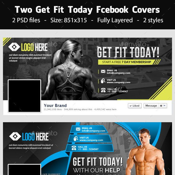 Get Fit Today! - Facebook Covers