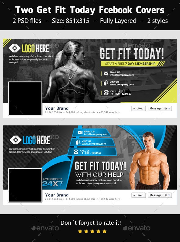 Get Fit Today! - Facebook Covers - Facebook Timeline Covers Social Media