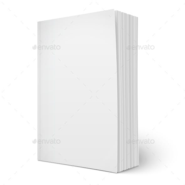 Blank Vertical Softcover Book