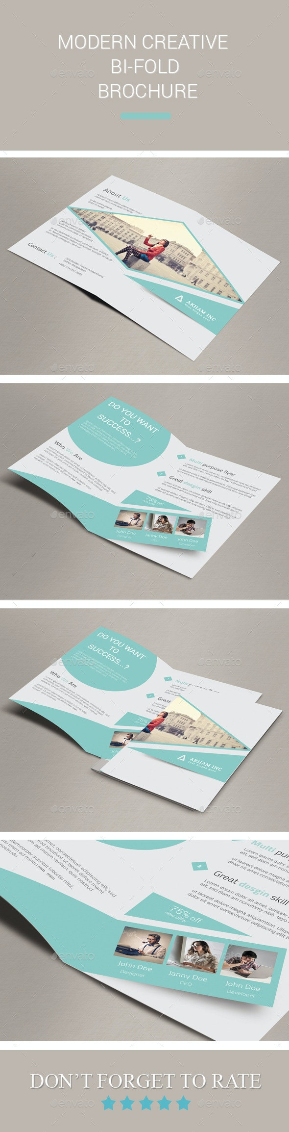 Modern Creative Bi-fold Brochure - Corporate Brochures