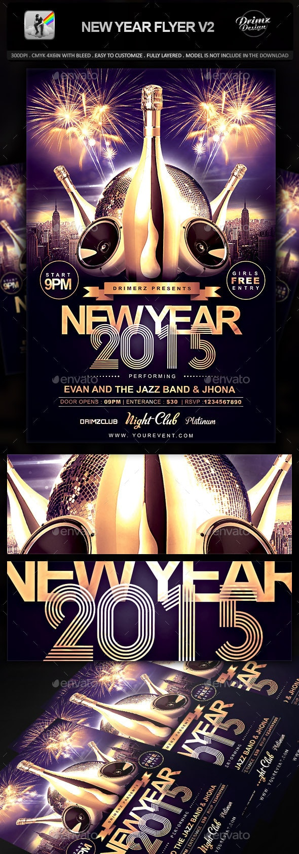 New Year Flyer V2 - Holidays Events