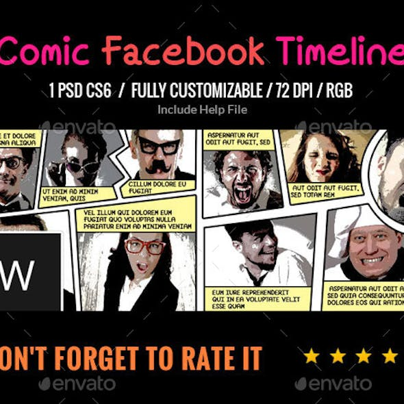 Comic Book Facebook Cover