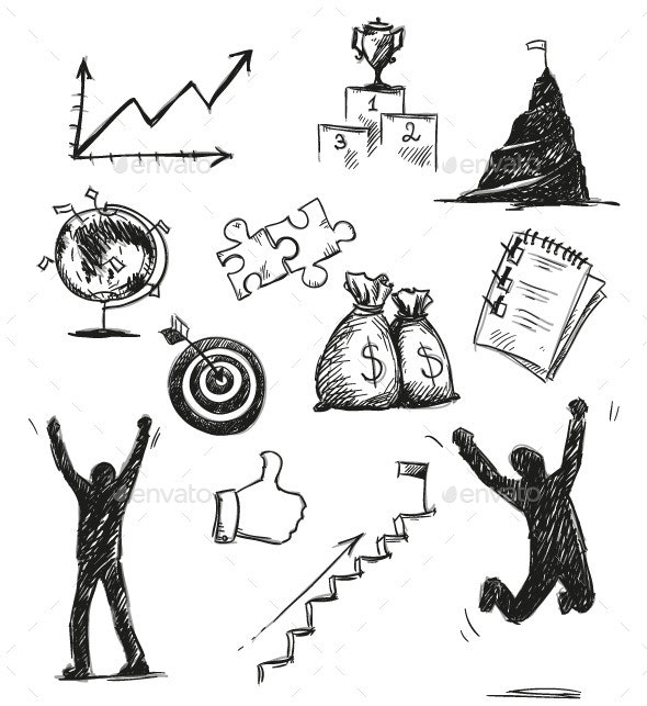 Success Symbols and Icons - Concepts Business