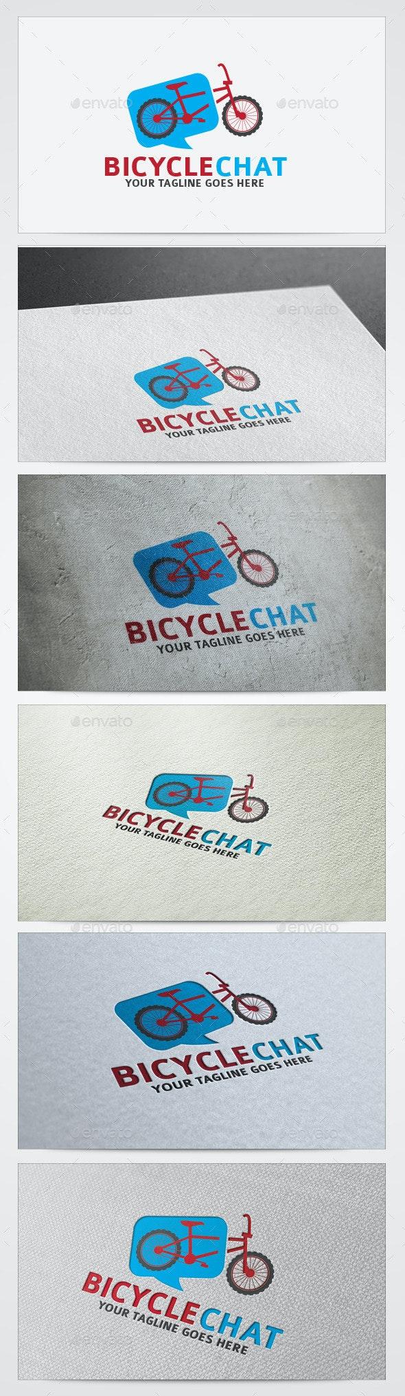 Bicycle Chat Logos Templates - Vector Abstract