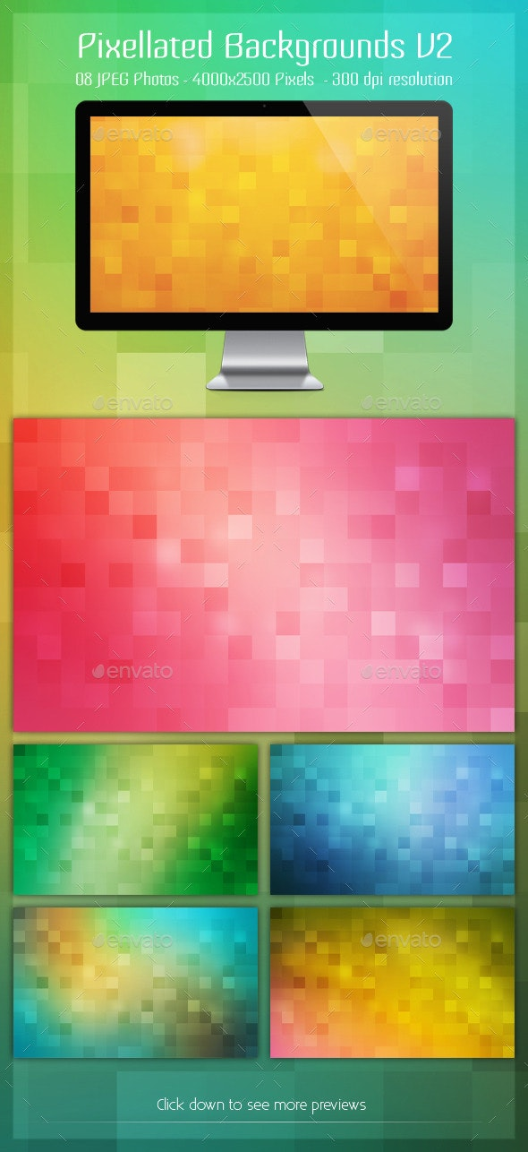 Pixellated Backgrounds V2 - Abstract Backgrounds
