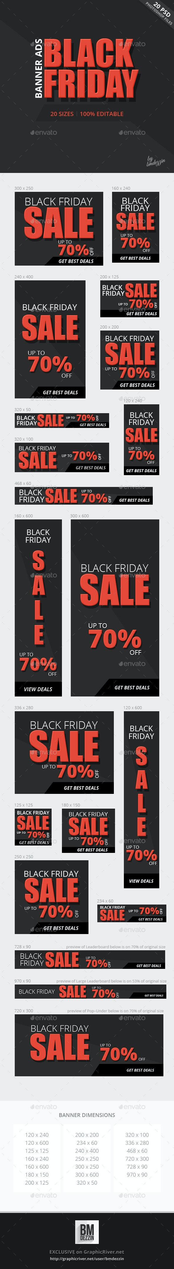 Black Friday Banner Ads - Banners & Ads Web Elements