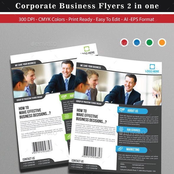 Corporate Business Flyers 2 in one